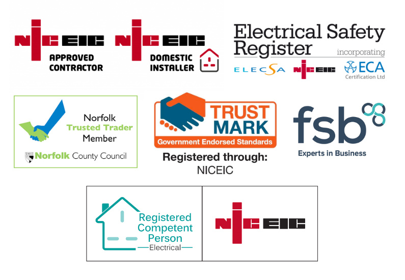 Cooks Electrical is a member of these regulated authorities